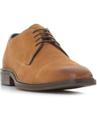 Bertie - Tan 'bromin' Casual Lace Up Gibson Shoes - Lyst