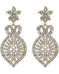 Mikey - Dome Eclispe Crystal Drop Earring - Lyst
