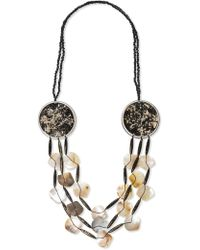 East - Nima Shell And Disc Necklace - Lyst