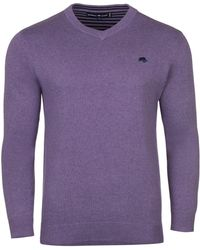 Raging Bull | V-neck Cotton Cashmere Jumper | Lyst