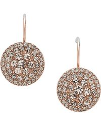 Fossil | Jf00135791 Ladies Rose Iconic Glitz Earrings | Lyst