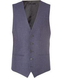 Kenneth Cole - Porter Denim Texture Suit Waistcoat - Lyst