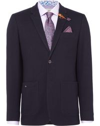 Ted Baker - Men's Ascari Jersey Tonal Windowpane Check - Lyst