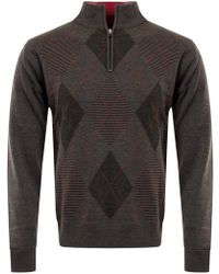 Cutter & Buck - Tonal Argyle Lined Windblock Jumper - Lyst