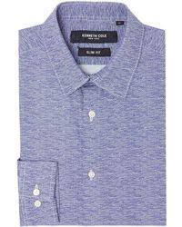 Kenneth Cole - Men's Penn Slim Fit Wire Print Shirt - Lyst
