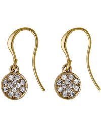 Pilgrim | Grace Gold Plated White Earrings | Lyst