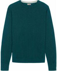 Jaeger | Men's Merino Contrast Crew Neck Sweater | Lyst