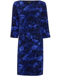 Ellen Tracy - Printed Flower 34 Sleeve Dress - Lyst