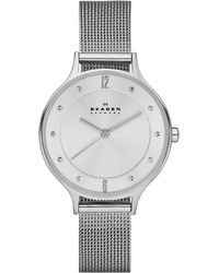 Skagen - Women's Anita Stainless Steel Mesh Bracelet Watch 30mm Skw2149 - Lyst