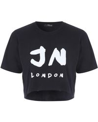 Jane Norman - Cropped Slogan T-shirt - Lyst