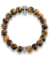 Thomas Sabo - Rebel At Heart Skull Tiger`s Eye Bracelet - Lyst