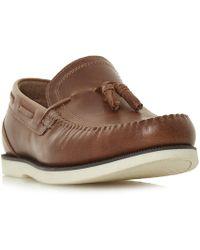 Howick - Botanical Tassel Boat Shoes - Lyst