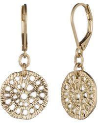Lonna & Lilly - Disc Drop Earrings - Lyst