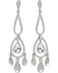 Mikey - Long Eclipse Crystal Drop Earring - Lyst