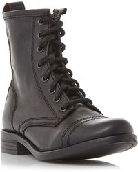 Steve Madden - Charrie Lace Up Biker Boots - Lyst