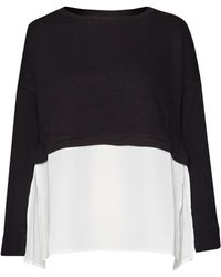 French Connection - Lerato Jersey Mix Sweatshirt - Lyst