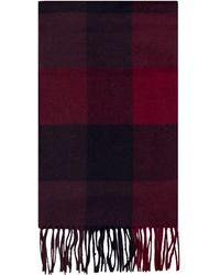 Alexandre Of England - Creskell Red & Navy Cashmere Blend Scarf - Lyst