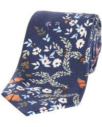 b99cb8477c87b0 Lyst - Ted Baker Tepa Tie in Blue for Men