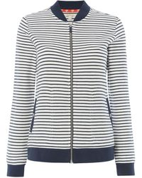 Barbour - Zip Up Striped Bamburgh Striped Sweatshirt - Lyst