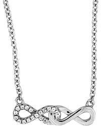 Azendi - Double Infinity Necklace - Lyst