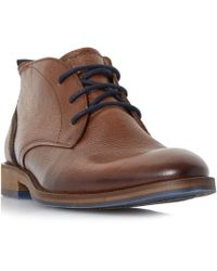 Dune | Callahan Distressed Leather Chukka Boots | Lyst