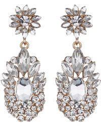 Mikey - Flower Drop Fillagary Flower Earring - Lyst