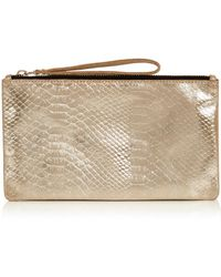Oasis - Leather Lily Snake Purse - Lyst