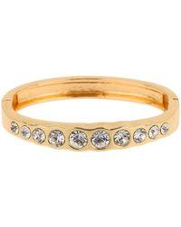 Mikey - London Multi Rnd Crystals Embed Cuff Bracel - Lyst