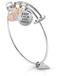 Guess - Heart & Smile Coin Charms Bracelet - Lyst