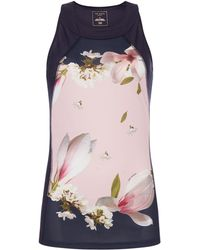 Ted Baker - Harmony Floral Sports Tank Top - Lyst