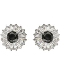 Mikey - Cubic Stone Baugette Stud Earring - Lyst