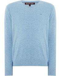 Michael Kors | Men's Cotton V-neck Logo Jumper | Lyst