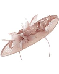 Suzanne Bettley - Feather Flowers And Curl Sinamay Hat On Band - Lyst