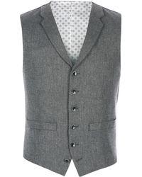 Racing Green - Tarvit Grey Herringbone Waistcoat - Lyst