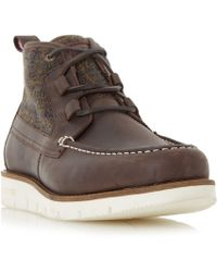 Tommy Hilfiger - Case 2c1 Tweed Panel Wedge Boots - Lyst