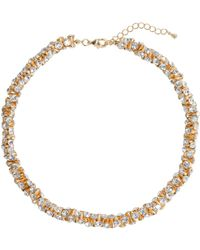 Mikey - Cubic Dumbell Beads Linked Necklace - Lyst