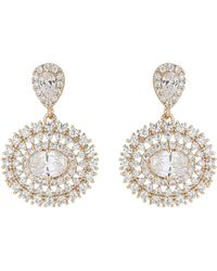 Mikey - Oval Fine Cubic Spread Drop Earring - Lyst