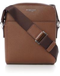 Michael Kors - Harrison Saffiano Leather Small Crossbody Bag - Lyst