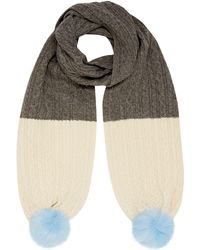 Dents - Contrast Knitted Scarf - Lyst