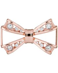 Ted Baker - Joasia Rose Gold Jewelled Bow Brooch - Lyst