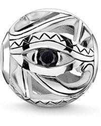 Thomas Sabo - Silver Eye Of Horus Karma Bead - Lyst