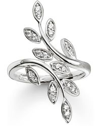 Thomas Sabo - Fairy Twines Silver Leaf Ring - Lyst