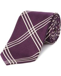 Chester Barrie - Silk Tie - Woven Treble Check - Lyst