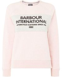 Barbour - Triple Sweatshirt With Felt Print - Lyst