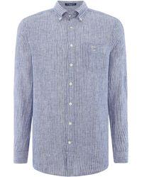 GANT - Men's Linen Pinstripe Shirt - Lyst