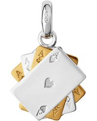 Links of London - Yellow Gold Vermeil Poker Cards Charm - Lyst