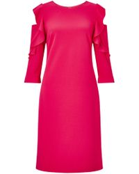 James Lakeland - Ruffle 34 Sleeve Dress - Lyst