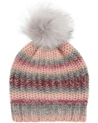 Accessorize - Pretty Spacedye Pom Beanie Hat - Lyst