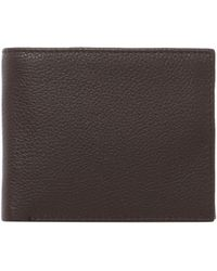 Howick - Bold Grain Leather Wallet With Coin Pocket - Lyst