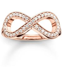 Thomas Sabo - Glam & Soul Rose Gold Infinity Ring - Lyst